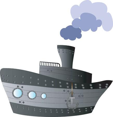 Big ship. Vector