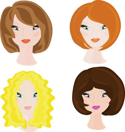 redhead woman: Giovani ragazze.