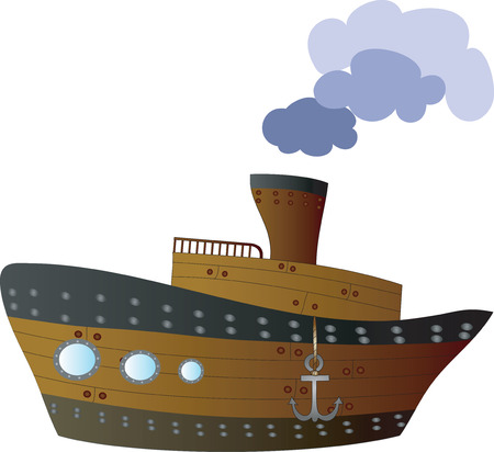 Big wooden ship Stock Vector - 7729861