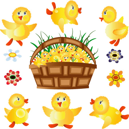 7729878-icons-funny-ducklings--basket-wi