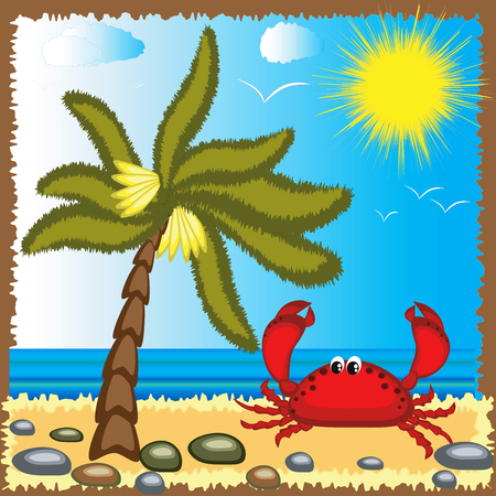 Summer background. Stock Vector - 7829141