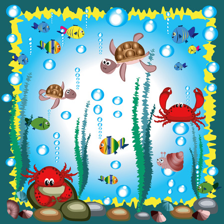 Marine life. Stock Vector - 7729876