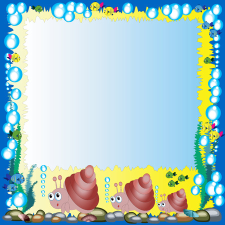 aquatic reptile: Frame with mollusks family
