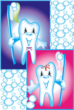 mouth pain: Teeth Illustration