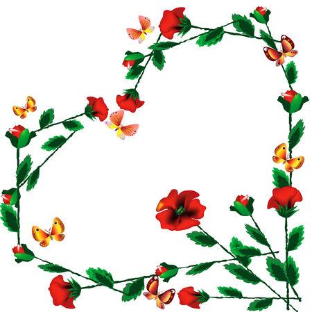 Floral heart. Stock Vector - 7829149