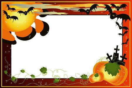 helloween:  Helloween achtergrond. Stock Illustratie