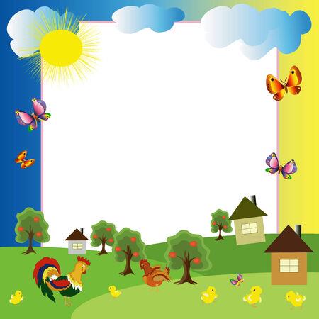 hens: Village-frame