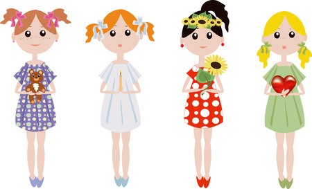 Girls Stock Vector - 7985073
