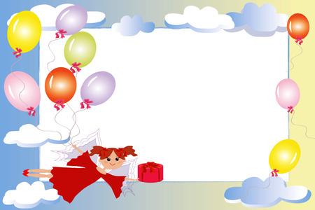 Marco con hadas cumpleaños