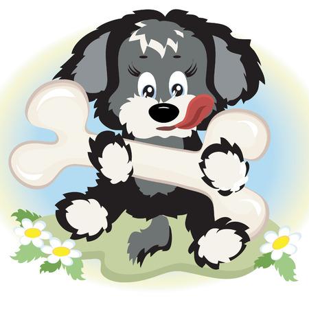 keen: Puppy with big bone.