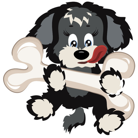 Puppy with big bone Stock Vector - 8129197
