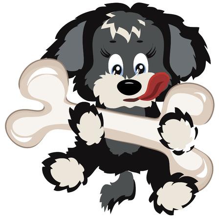 Puppy with big bone Stock Vector - 8129197