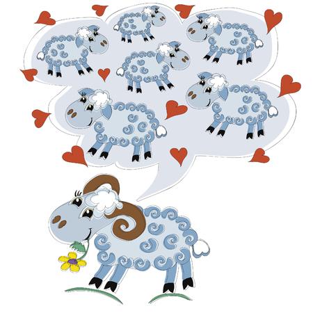 sheeps: sheeps Illustration