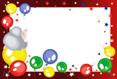 Background with balloons Stock Vector - 8129214