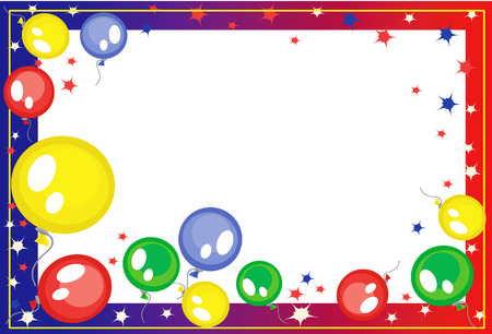 balloon border: Background-frame  with balloons