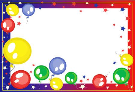 carnival girl: Fotograma de fondo con globos