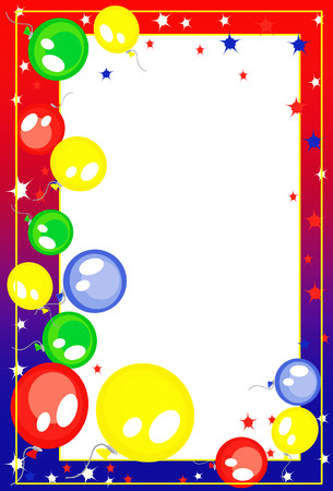 balloon border:   Background-frame  with balloons Illustration