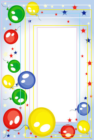 Background-frame  with balloons Stock Vector - 8129206