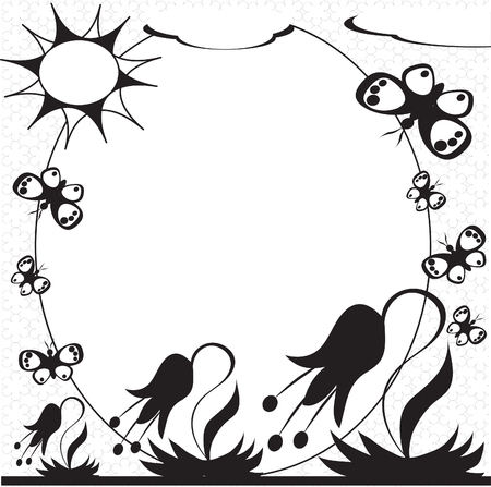 batterfly: Summer :frame3. Illustration