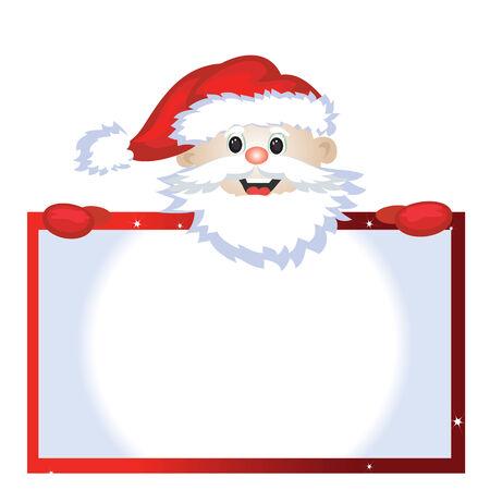 Santa with frame Stock Vector - 8339379