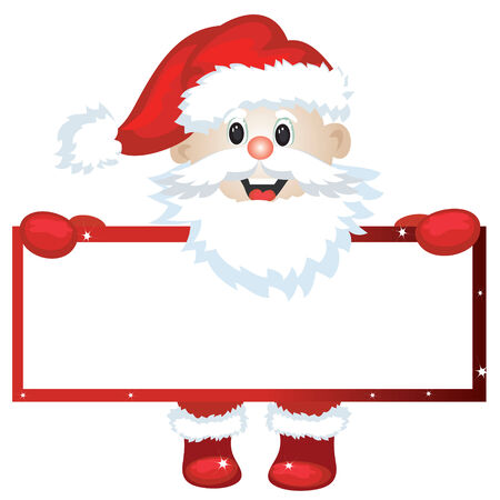 Santa with frame Stock Vector - 8339367
