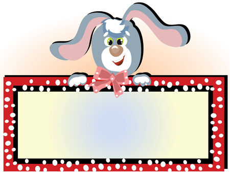 Bunny with frame Vector