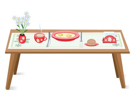egg cups: Table Illustration