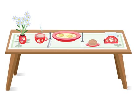 food hygiene: Table Illustration