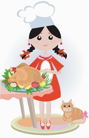 landlady: Girl cook