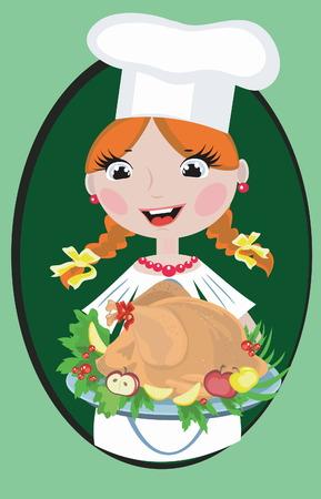fastfood: Girl cook