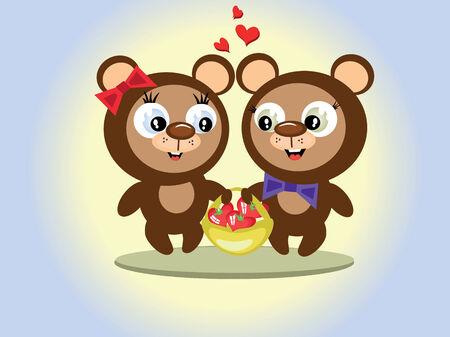 Animals valentine day Vector