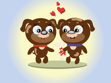 Animals valentine day Stock Vector - 8570695