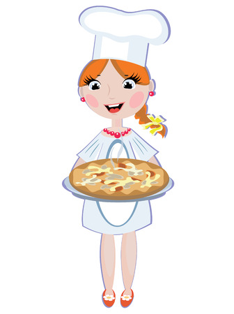 Girl cook Stock Vector - 8569739