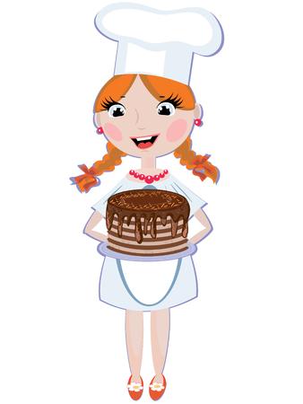 redhead woman: Ragazza cook