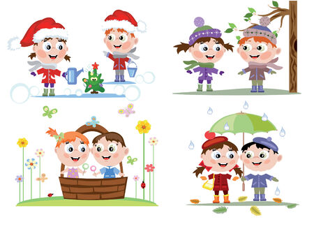 Children season Vetores