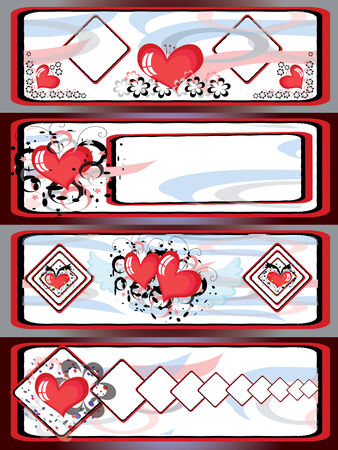 Backgrounds with hearts Stock Vector - 8637800