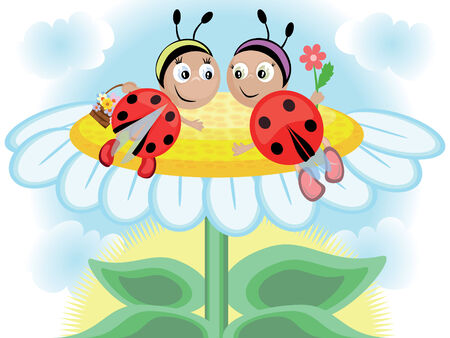 Ladybugs Stock Vector - 8637810