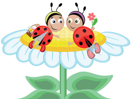 Ladybugs Stock Vector - 8637808