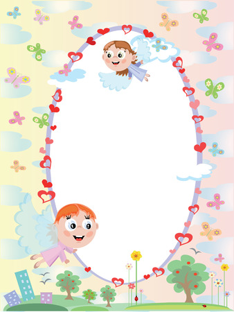 Frame with angels Stock Vector - 8847596