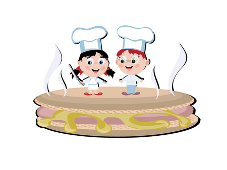 Two funny cooks Vector