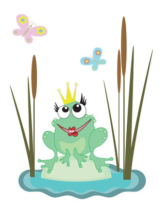 princess frog: Rana Vectores