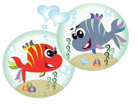 algae cartoon: Sea animals,fish