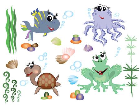 Sea animals,set Stock Vector - 8847632