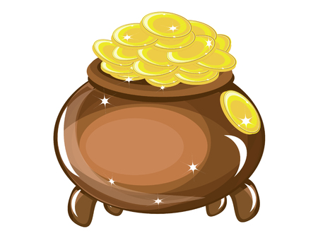 Gold pot Stock Vector - 8958913