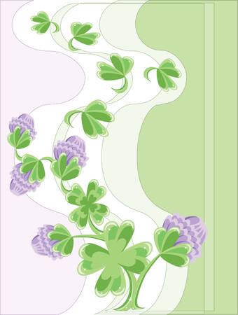 Background with clover Vector