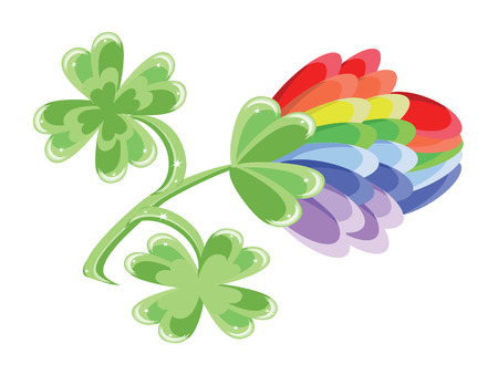 Rainbow clover Stock Vector - 8958912