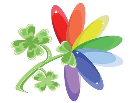 Rainbow flower Stock Vector - 8958958