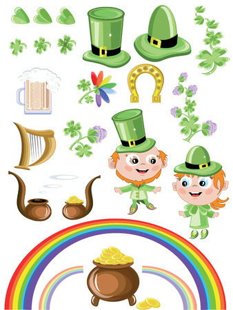 St, Patricks day,icons Vector