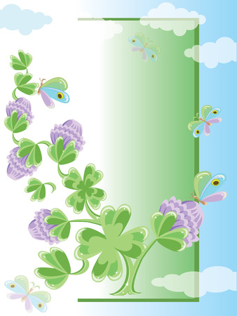 Background with clovers Stock Vector - 8958967
