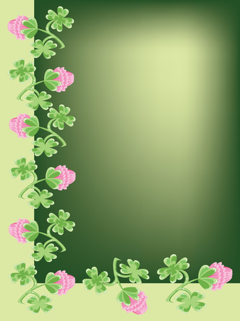 Background with clovers Vector